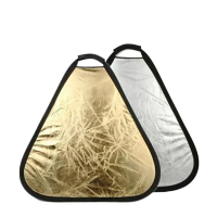 Светоотражатель NiceFoto Gold/silver portable reflector GS-Ø60cm