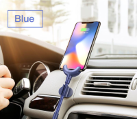 Кабель-держатель Baseus Car Mount USB Cable Lightning to USB Синий